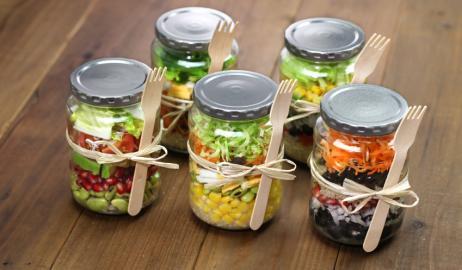Φτιάξτε και πακετάρετε σαλάτα για το γραφείο