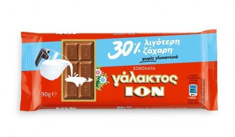 Νέα ΙΟΝ Γάλακτος με 30% λιγότερη ζάχαρη - Πιο σοκολάτα γάλακτος δεν γίνεται!
