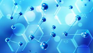 απεικόνιση τυχαίας χημικές ένωσης και μορίων